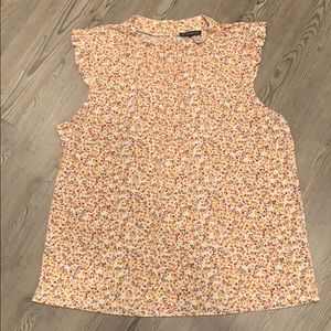 Flowered Adrianna Papell tank top